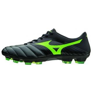 Chaussures Foot Mizuno Basara 101 KL Noir / Vert  Homme