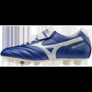 Chaussures Foot Mizuno MRL Classic MD Blanc / Bleu Homme