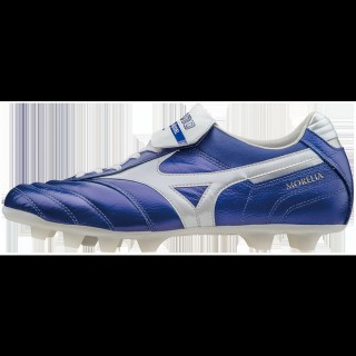 Chaussures Foot Mizuno Morelia MD II Blanc / Bleu Homme