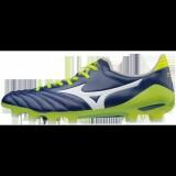 Chaussures Foot Mizuno Morelia Neo II MD Blanc / Bleu / Jaune Homme