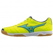 Chaussures Foot Mizuno Sala classic 2 in Bleu / Jaune Homme