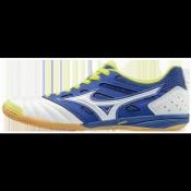 Chaussures Foot Mizuno Sala premium 2 in Blanc / Bleu / Jaune Homme