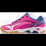 Chaussures Handball Mizuno Wave Ghost Blanc / Bleu / Rose Femme