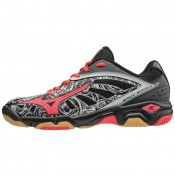 Chaussures Handball Mizuno Wave Mirage JR Blanc / Gris / Noir / Rose Femme
