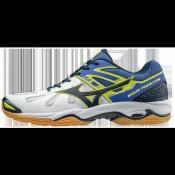 Chaussures Handball Mizuno Wave Phantom Blanc / Bleu / Gris / Jaune Homme