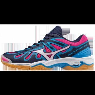 Chaussures Handball Mizuno Wave Phantom Blanc / Bleu / Rose Femme