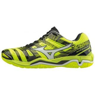 Chaussures Handball Mizuno Wave stealth 4 Blanc / Jaune / Noir Homme