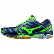 Chaussures Handball Mizuno Wave stealth 4 Bleu / Vert  Homme