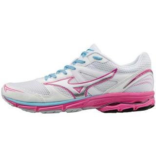 Chaussures Running Mizuno Wave Aero 15 Blanc / Rose Femme