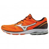 Chaussures Running Mizuno Wave Aero 15 Gris / Noir / Orange Homme