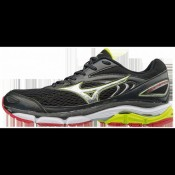 Chaussures Running Mizuno Wave Inspire 13 Gris / Jaune / Noir Homme