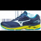 Chaussures Running Mizuno Wave Rider 20 Bleu / Jaune Homme
