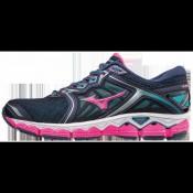 Chaussures Running Mizuno Wave Sky Bleu / Gris / Rose Femme