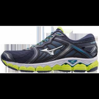Chaussures Running Mizuno Wave Sky Bleu / Jaune Homme