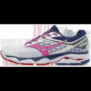 Chaussures Running Mizuno Wave Ultima 9 Blanc / Bleu / Rose Femme