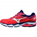 Chaussures Running Mizuno Wave Ultima 9 Blanc / Bleu / Rouge Femme