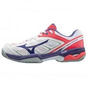 Chaussures Tennis Mizuno WAVE EXCEED CC Blanc Femme