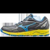 Chaussures Trail Mizuno Wave Daichi 2 Bleu / Gris / Jaune Homme