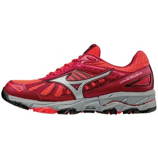 Chaussures Trail Mizuno Wave Mujin 3  Gris / Rose Femme