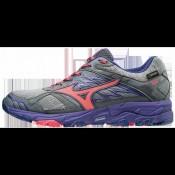 Chaussures Trail Mizuno Wave Mujin 4 G-TX Gris / Rose / Violet Femme
