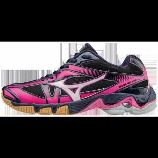 Chaussures Volley Mizuno Wave Bolt 6 Gris / Noir / Rose Femme