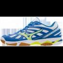 Chaussures Volley Mizuno Wave Hurricane 3 Blanc / Bleu / Jaune Homme