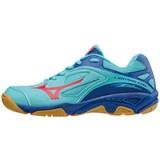 Chaussures Volley Mizuno Wave Lightning Star Z2 JNR Bleu / Rose Femme