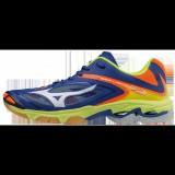 Chaussures Volley Mizuno Wave Lightning Z3  Blanc / Bleu / Jaune / Orange Homme