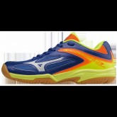 Chaussures Volley Mizuno Wave Lightning Z3 JR Blanc / Bleu / Jaune / Orange Femme
