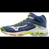 Chaussures Volley Mizuno Wave Lightning Z3 Mid Blanc / Bleu / Jaune Homme