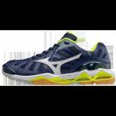 Chaussures Volley Mizuno Wave Tornado X Blanc / Bleu / Jaune Homme
