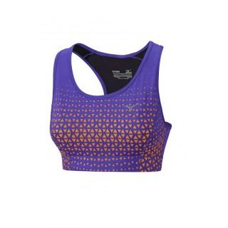 Mizuno Brassière Phenix Support Orange / Violet Running Femme