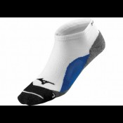 Mizuno Chaussettes DryLite Comfort Low  Blanc / Bleu Running Femme