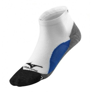 Mizuno Chaussettes DryLite Comfort Mid Blanc / Bleu Running Femme