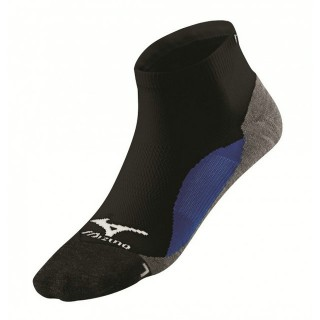 Mizuno Chaussettes DryLite Comfort Mid Bleu / Noir Running Femme
