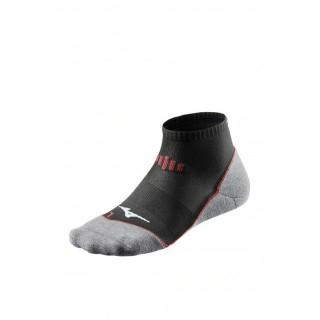 Mizuno Chaussettes DryLite Comfort Mid Gris / Noir / Rouge Running Femme