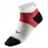 Mizuno Chaussettes DryLite Support Mid Blanc / Noir / Rouge Running Femme