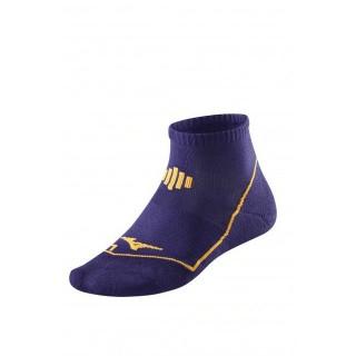 Mizuno Chaussettes Drylite Comfort Mid Orange / Violet Running Femme