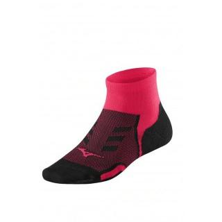 Mizuno Chaussettes Drylite Race Mid Noir / Rose Running Femme