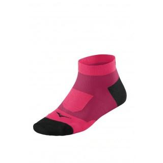 Mizuno Chaussettes Drylite Support Mid Noir / Rose Running Femme