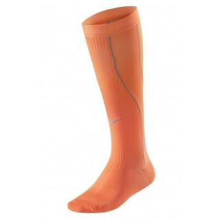 Mizuno Chaussettes de compression Orange Running Femme