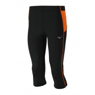 Mizuno Collant BG3000 3/4 Tights Noir / Orange Trail Trail Homme