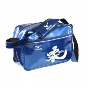 Mizuno Sac vintage small Kanji Blanc / Bleu Judo