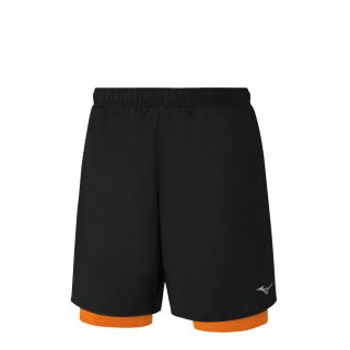 Mizuno Short Helix Square 7.5 2in1 Noir / Orange Running/Training Homme