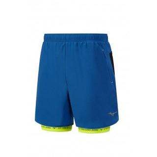 Mizuno Short Mujin Square 7.5 Bleu / Jaune Running  Homme