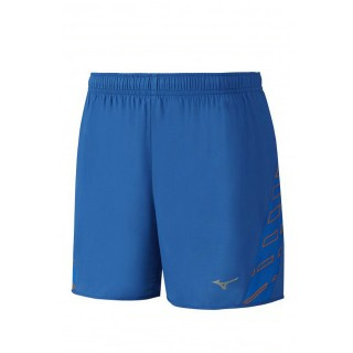 Mizuno Short Square Venture 5.5 Bleu / Orange Running  Homme
