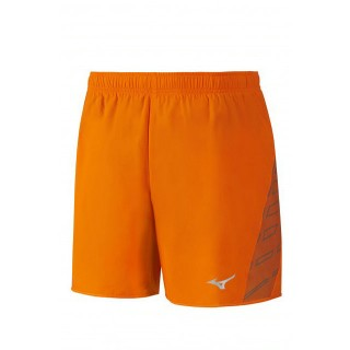 Mizuno Short Square Venture 5.5 Gris / Orange Running  Homme
