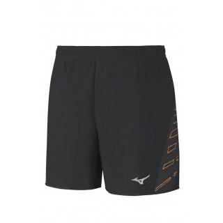 Mizuno Short Square Venture 5.5 Noir / Orange Running  Homme