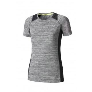 Mizuno T-shirt Alpha Gris / Noir Running Femme