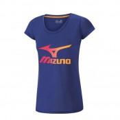 Mizuno T-shirt Big Logo Bleu Outdoor Femme